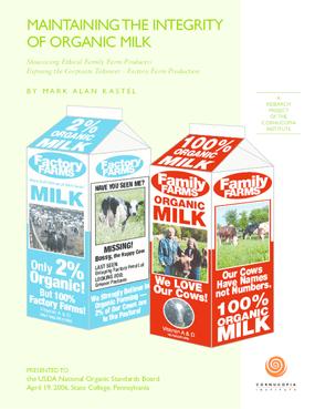 Maintaining the Integrity of Organic Milk
