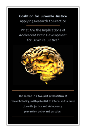 Applying Research to Practice: What Are the Implications of Adolescent Brain Development for Juvenile Justice?